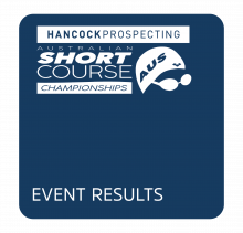 2019 Hancock Prospecting Australian Short Course Championships - Event Results